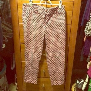 The perfect print pants to wear to work!